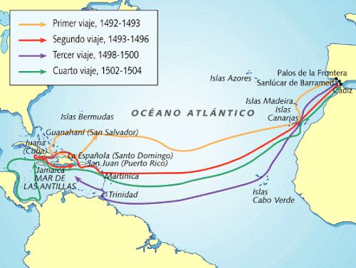 Los viajes de Colón (resumen)