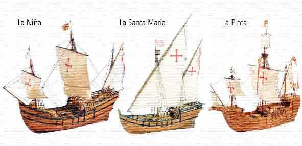 ¿Cómo se llamaban los barcos de Cristóbal Colón?